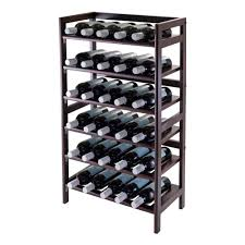 amazon com winsome 6 tier silvi wine rack 30 bottle home u0026 kitchen
