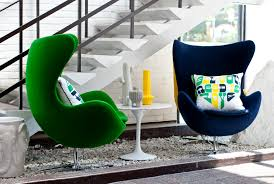 furniture green and blue jacobsen egg chair also white coffe