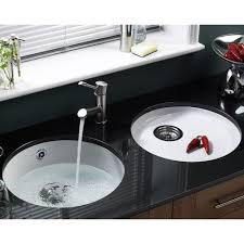 round double bowl stainless enchanting kitchen sink round home