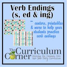 verb endings s ed ing student learning learn to read and
