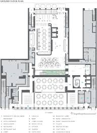 floor plan hotel dream downtown hotel by handel architects