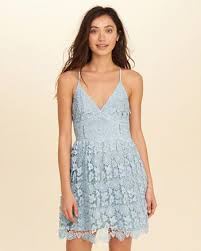 blue lace dress dresses rompers hollister co