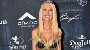video halloween party tara reid wears super skimpy greek goddess costume to halloween
