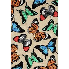 Indoor Outdoor Rugs Home Depot by Woodside Colorful Wings Multi 5 Ft X 7 Ft 6 In Indoor Outdoor