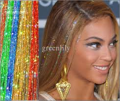 free hair extensions fashion 24 bellavia tinsel hair extensions bling string 3d