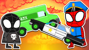 bigfoot presents meteor and the mighty monster trucks venom robbery vehicles for children kids animation monster