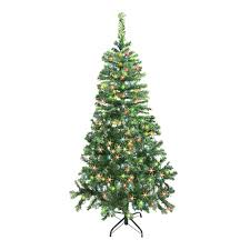 artificial tree 7 5 foot with multicolored