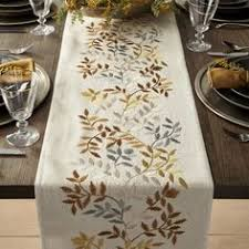 crate and barrel table runner free shipping shop nordic embroidered table runner this casual