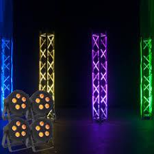 american dj led lights american dj hex par pak lighting package with 4 5p hex led par