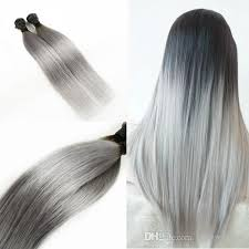 grey hair extensions 300g ombre silver grey human hair extensions two tone t1b