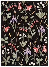 Claire Murray Washable Rugs by Claire Murray Meadow Floral Black R1584bk Claire Murray