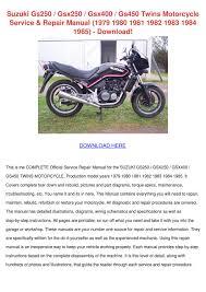 suzuki gs250 gsx250 gsx400 gs450 twins motorc by leojorgenson issuu
