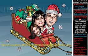 christmas cards custom made caricatures cartoons and comics