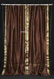 Sari Curtain Cream Tie Top Sheer Sari Curtain Drape Panel Pair Indian