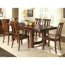 7 pc dining room set liberty furniture tahoe 7 dining table with slat back chair