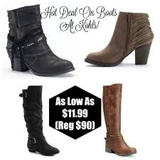 womens boots kohls kohl s s boots for only 11 99 per pair shipped reg 50