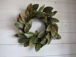 my 1923 foursquare diy scrap leather magnolia wreath