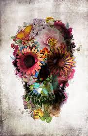 morbid and delicate inspirations flower skull