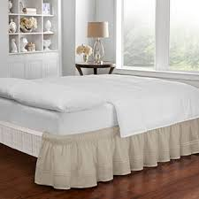 Burlap Bed Skirt Bed Skirts U0026 Dust Ruffles Queen U0026 King Size Bedskirt