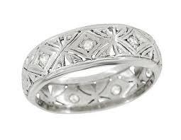 wedding bands in antique platinum wedding bands vintage platinum wedding rings