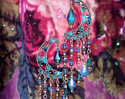 Pink Gypsy Chandelier Bohemian Gypsy Fantasy Victorian Chandelier Earrings By Kerala