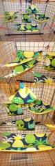 bedding 149078 bright pineapple sugar glider 11 pc cage set