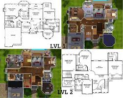 sims house plans garden home sims 3 5 bedroom home home plans
