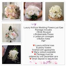silk wedding flower packages bouquets shop