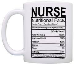 nurse quote gifts amazon com nurse gifts nurse nutritional facts label nursing