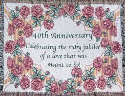 40th wedding anniversary gift 40th anniversary cotton sofa throw 40th wedding