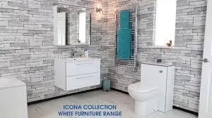 Range Bathroom Furniture by Icona Collection White Bathroom Furniture Plumbworld Youtube