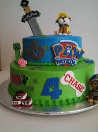 combination paw patrol craft cake cakecentral