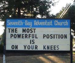 Church Sign Meme - on your knees funny church signs know your meme
