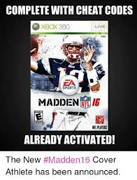 Facebook Meme Codes - complete with cheat codes xbox360 live nfl memes sports rig madden