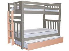 Twin Over Twin Bunk Beds With Trundle by Bunk Beds Mission Style Free Shipping At Bunk Bed King