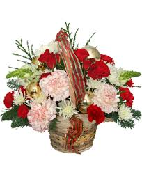 flower basket heart warming flower basket christmas flower shop network