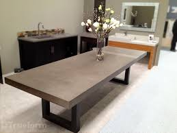 pottery barn concrete table hand crafted zen concrete table by trueform concrete custommade com