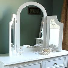 eliza white range triple dressing table mirror melody maison