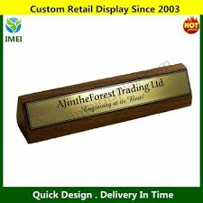 Wooden Desk Name Plates Company Wood Sign Personalised Desk Name Plate Stereo Stand Sign