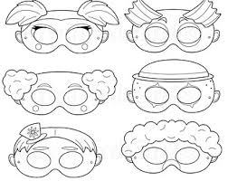 coloring extraordinary clown mask template color