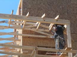 How To Build A Wrap Around Porch Building A Porch Roof Porch Roof Framing