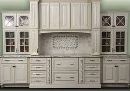 Painted Glazed Kitchen Cabinets Painted Antique White Kitchen Cabinets U2013 Home Design And Decorating