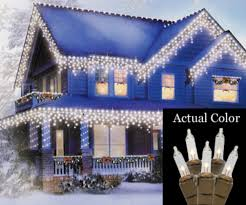 White Icicle Lights Outdoor Vickerman Set Of 100 Clear Mini Icicle