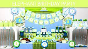 Elephant Decorations Elephant Birthday Party Ideas Elephant B135 Youtube