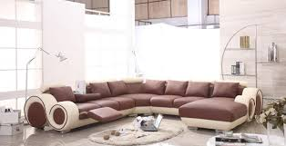 living room stunning small sectional sofa with recliner images