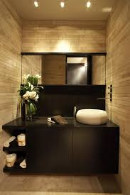 apartments cozy zen bathroom design with light brown marble wall