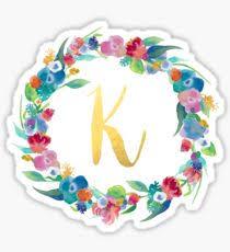 monogram letter stickers letter k stickers redbubble