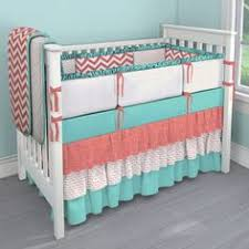 Customize Your Own Bed Set Solid Coral Baby Crib Bedding Coral Crib Bedding Carousel