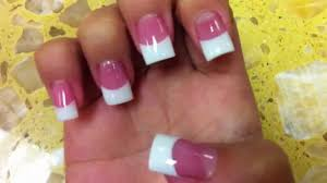 how to do pink and white acrylic nails how you can do it at home