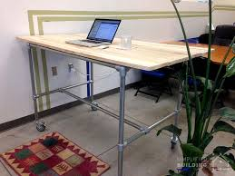 Pipe Desk Diy 37 Diy Standing Desks Built With Pipe And Kee Kl Simplified